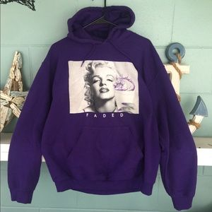 """Marilyn Monroe """" Faded"""" Hoodie"""